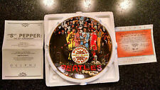 "THE BEATLES ""SGT PEPPERS"" MINT 25 ANNIV. BRADFORD EXCHANGE COLLECTOR PLATE #1"