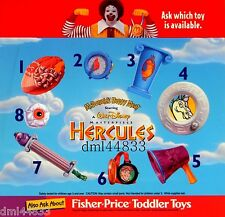 1998 McDonalds Hercules MIP Complete Set - Lot of 8, Boys & Girls, 3+