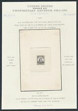 #RS224P1 DR. M.A. SIMMONS LARGE DIE PROOF ON INDIA SUNK ON CARD EX-JOYCE BR2975