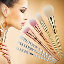 7PCS PRO MAKEUP METAL BRUSHS SET BLUSH BRUSHES FULL KIT TOOLS METAL TECHNIQUES