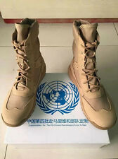 07's series China PLA Army United Nations Combat Cattle Leather Boots,Desert