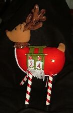 REINDEER ADVENT CALENDAR stands 15 in tall Plush Neat Cute Felt numbers SPECIAL