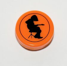 Orange Silicone container with Michael Houser Silhouette, Widespread Panic, WSP!