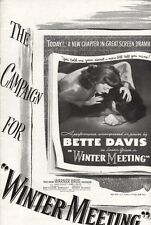 WINTER MEETING pressbook, Bette Davis, Janis Paige, James Davis