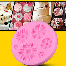 3D Flower Fondant Cake DIY Mold Silicone Mould Sugarcraft Baking Decorating Tool