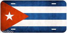 Cuba Grunge Flag Aluminum Novelty Car Auto License Plate