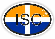 ISC Isle of Scilly BANDIERA Codice paese OVALE Adesivo Per Paraurti Auto Laptop Tablet