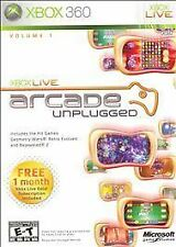 Xbox Live Arcade Unplugged Vol. 1 (Microsoft Xbox 360, 2006) GOOD