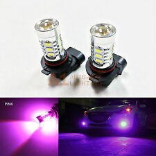 2x Pink 9005 15w High Power Bright LED Bulbs 5730 15-SMD DRL/High Beam Headlight