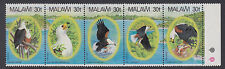 MALAWI: 1983 Fish Eagle set  SG 674-8 MNH se-tenant strip