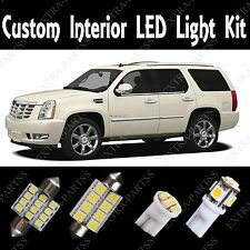18 X White LED Light bulbs Interior Package Kit 2007-2014 for Cadillac Escalade