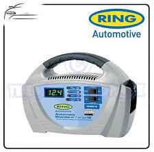 Anillo 12v 12amp Automático Estándar del Coche Cargador De Batería + Pantalla Led rcb212
