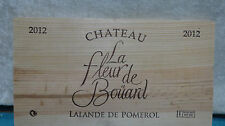 2012 CHATEAU LA FLEUR DE BOUARD LALANDE DE POMEROL WOOD WINE PANEL