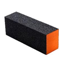2 Pcs Black Orange Rectangle 4 Way Shiner Buffer Sanding Block Nail File