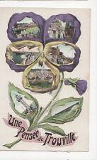 Une Pensee de Trouville Vintage Postcard France 274a