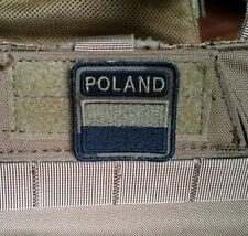 Polish ARMY FLAG POLAND velcro patch camo 40x40 special force GROM