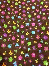 Logantex Studio fabric owls & butterflies & flowers Joan Pace Baker material
