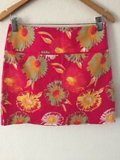 H&M Cotton Mix Skirt Euro Size 38 Pink Floral  R8010