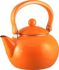 Reston Lloyd 2-Quart Enamel-on-Steel Tea Kettle, Orange