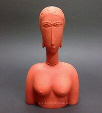 """AMEDEO MODIGLIANI - Skulptur - """"Grand buste rouge"""" - wunderschöne Museums Figur"""