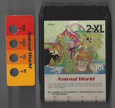 MEGO 2XL TALKING ROBOT 8 TRACK TAPE ANIMAL WORLD RARE & BUTTON CARD TESTED WORKS