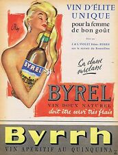 PUBLICITE ADVERTISING 015 1958 BYRRH Byrel par Oklay vin doux naturel