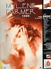 Publicité advertising 1996 Concert Mylène Farmer Tour