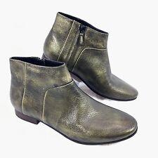 NEW Women's Cole Haan Allen Bootie Metallic Bronze leather Ankle Boots Sz 7.5 B