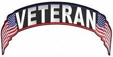 VETERAN US Flag United States Vet Military POW Rocker Back Biker Patch LRG-0576