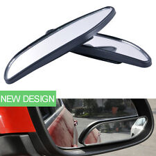 Black Auto Wide Angle Rear Mirrors Side RearView Car Universal Blind Spot Mirror