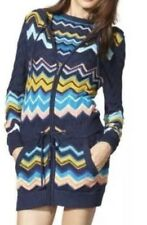 MISSONI for Target~NEW-Blue Chevron Stripe Hooded Sweater Jacket~ Sz M