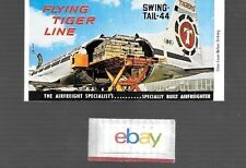 FLYING TIGERS LINE CANADAIR CL-44 SWING TAIL UNUSED MATCHBOOK