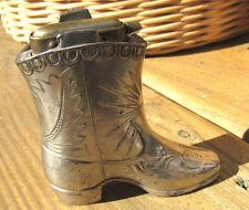 Vintage Cigerette Lighter Cowboy Boot Silver plated