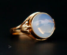 1955 Vintage Retro European Ring 18K Gold 6ct Moonstone Size 6.75 US / 3.2gr
