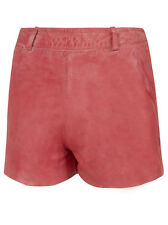 Muubaa Apus Leather Shorts in Coral. RRP £179. UK 8. M0353.