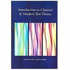 Introduction to Classical and Modern Test Theory, Algina, James, Crocker, Linda,