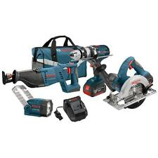 Bosch CLPK402-181 18V 4.0Ah Cordless Lithium-Ion 4-Tool Combo Kit New