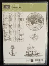 Stampin Up The Open Sea Anchor Map Sailing Ship Globe Travel Sailboat Compass