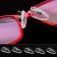 5 Paar Silikon Nasenpads Brillenpads Nasenpolster Nasenstege Schraube Für Brille
