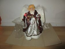 "New 12"" Scarlet Fiber Optic Angel Tree Topper 12048 Christmas#"