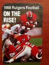 CFB 1988 RUTGERS SCARLET KNIGHTS Football Schedule College FB