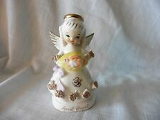 VINTAGE APRIL FLOWER GIRL ANGEL  FIGURINE # 1294 EASTER EGG
