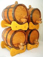 (4) 1 Liter White Oak Barrels THICKEST WOOD Compare at 8 lb 4 kg Shipping Weight