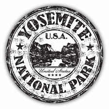"Yosemite National Park USA Grunge Travel Car Bumper Sticker Decal 5"" x 5"""