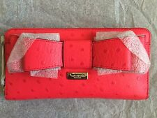 NWT Authentic Kate Spade Charm City Ostrich Neda Wallet in Desert Rose