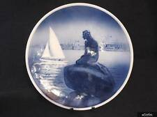 Very Nice Royal Copenhagen Wall Plate - Little Mermaid With White Yacht #4679