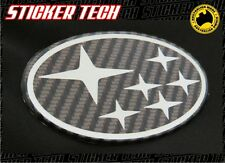 SUBARU CARBON FIBER GRILL BADGE EMBLEM SUITS GC8 WRX STI MY99 WRC IMPREZA TURBO