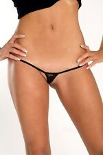 Beauty in Black sheer lacy sexy Micro G-string Europen made