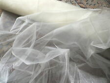 Retro Ivory Mirror Organza Sheer Fabric Dresses Petticoats Veils Interiors etc