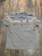 Mens Grey Striped Sonneti Polo Neck Pocket Front Short Sleeve T-shirt - Size XXL